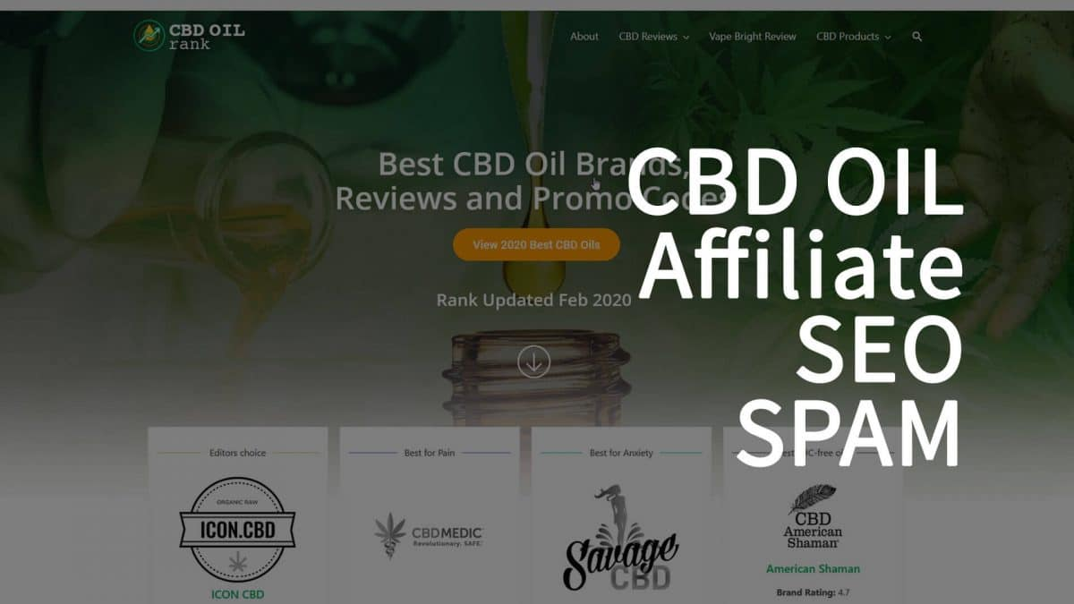 CBD Oil SEO SPAM