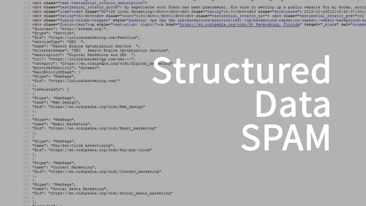 St. Pete SEO Structured Data SPAM